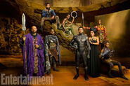 Black Panther promo cast EW