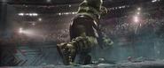 Hulk smashes Thor