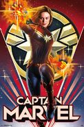 Captain Marvel Wall Poster 4