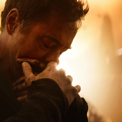 Stark lamentándose de la pérdida de sus aliados.