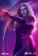 Avengers Infinity War Scarlett Witch Poster