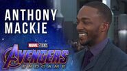 Anthony Mackie talks Falcon's fate LIVE at the Avengers Endgame Premiere