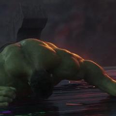 Hulk es lanzado de vuelta al Puente Arcoíris.