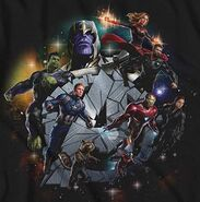 Avengers Team Promo Art Thanos