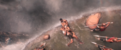 BP - T'Challa pins M'Baku In Ritual Combat