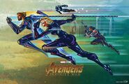 Fandango Avengers Infinity War mini poster team 4