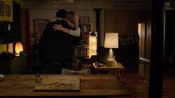 Karen hugging Frank
