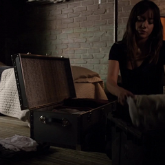 Skye empaca la habitación de Hartley.