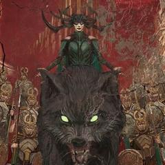 Hela continúa liderando a sus ejércitos para masacrar otros mundos.