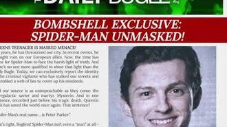 TheDailyBugle.net EXCLUSIVE Spider-Man Unmasked Full Story Credit The Daily Bugle J. Jonah Jameson