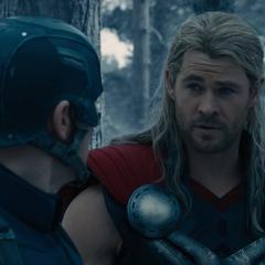 Thor se ofrece a transportar a Barton al Quinjet.