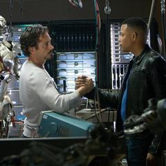 Stark reunido con Rhodes.