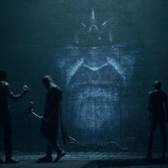 Thanos le pide el Orbe a Ronan.