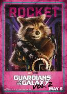 Rocket GOTG2 Poster