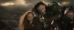 Loki saving Jane