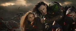 Loki saving Jane
