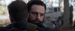 Bucky hugs Steve