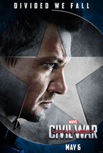Divided We Fall Hawkeye poster