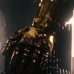Thanos acercándose al Guantelete del Infinito.