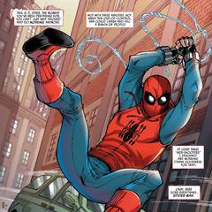 Parker durante sus actividades como justiciero.