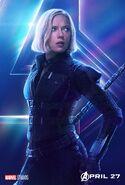 Avengers Infinity War Black Widow poster