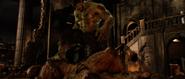 Hulk steps on Abomination