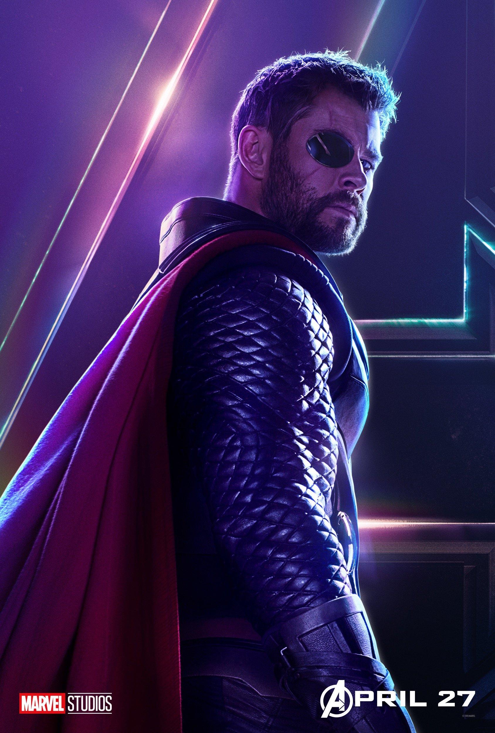 image - avengers infinity war thor poster | marvel cinematic