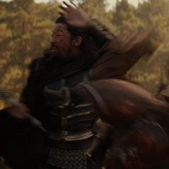 Hogun luchando contra los merodeadores.
