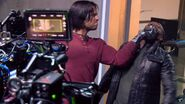 On set Captain America Civil War 5