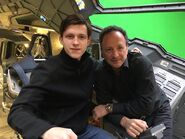 Tom Holland on Civil War set