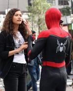 Zendaya Spider-Man BTS