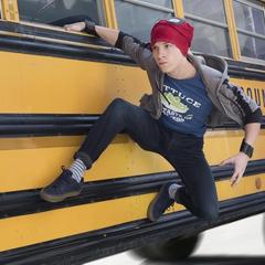 Parker abandona el autobús escolar.