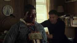 Frank saving Curtis