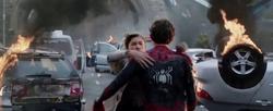 MJ hugs Spider-Man