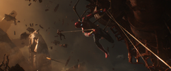 Spider-Man saves Drax