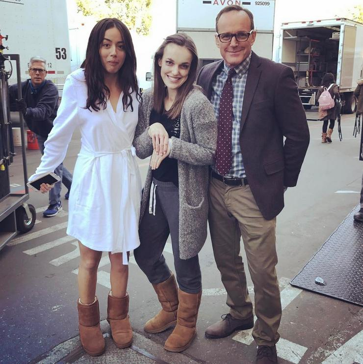 Image What If Coulson Skye Jemma Bts Jpg Marvel