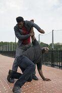 Luke Cage vs Bushmaster on high Bridge