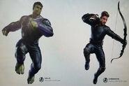 Avengers 4 CA - Hulk and Hawkeye