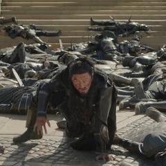 Hogun ve que su ejército fue derrotado.