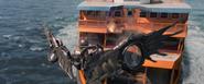 Spider-Man dodges Vulture's blast (Staten Island Ferry)