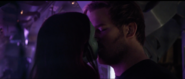 Star-Lord kisses Gamora