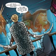Tivan le habla a Gamora desde su museo.