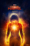 Captain Marvel March 8 poster