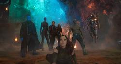 Guardianes de la Galaxia en el planeta de Ego