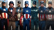 CaptainAmerica uniform evolution