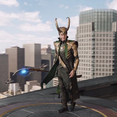 Loki da inicio a la Batalla de Nueva York.