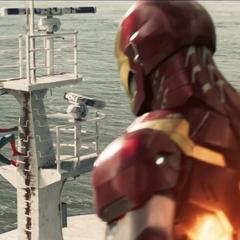 Stark habla con Parker tras reparar el ferry.