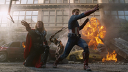 Thor & Cap Recall Their Weapons