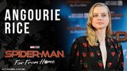 Angourie Rice answers fan questions LIVE from the Spider-Man Far From Home red carpet