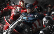 Avengers age of ultron artw-Captain america Iron Man